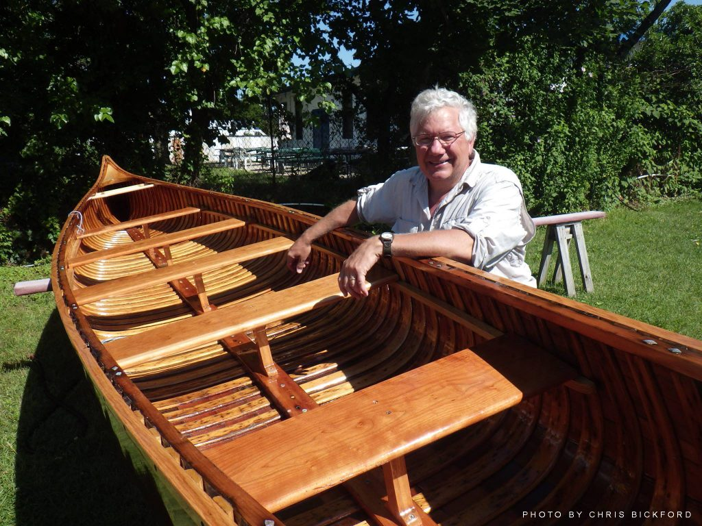 Dan Olson with canoe